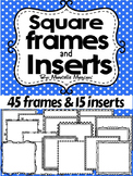 SQUARE FRAMES FOR COVER PAGES AND WORKSHEETS (55 IMAGES)