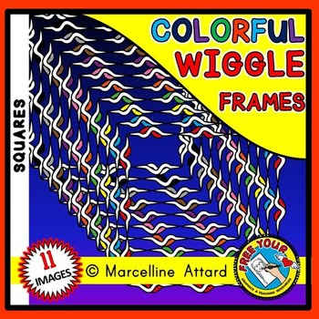 SQUARE WIGGLE FRAMES CLIPART: SQUARE CLIPART FRAMES