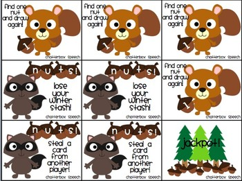 SQUIRREL!! Thematic & open-ended games for speech therapy & centers