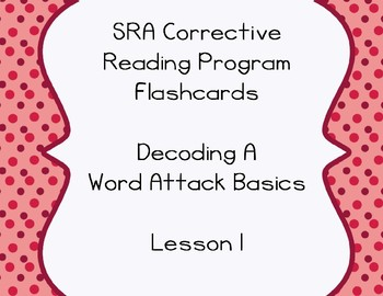 SRA Flashcards - Decode A - Lesson 1