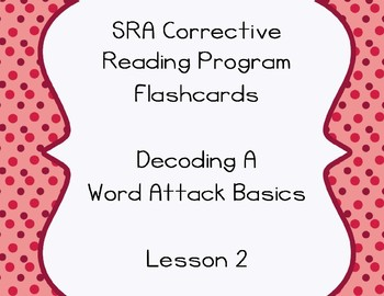SRA Flashcards - Decode A- Lesson 2