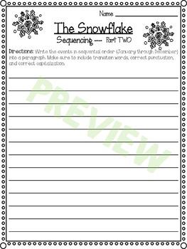 SRA Imagine It! Grade 4 U2L1 - The Snowflake - Sequencing