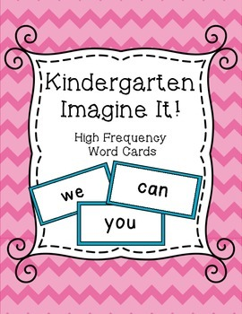 SRA Imagine It! Kindergarten High Frequency Word Cards