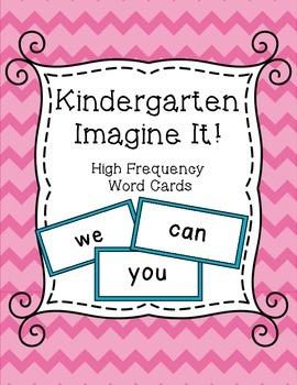 SRA Imagine It! Kindergarten High Frequency Word Cards