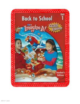 SRA Imagine It Unit 1 Back to School