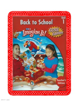 SRA Imagine It Unit 1 Back to School Game Cards