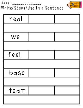 Imagine It Unit 2 Spelling Word Work