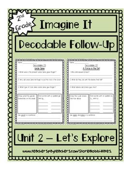 Imagine It Unit 2 Decodables Worksheets