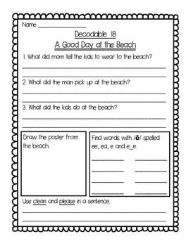 Imagine It Unit 2 Decodables Worksheets
