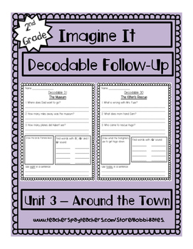 Imagine It Unit 3 Decodables Worksheets