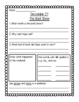 Imagine It Unit 3 Decodables Worksheets