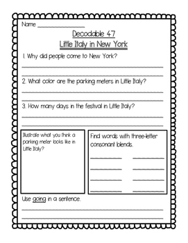Imagine It Unit 6 Decodables Worksheets