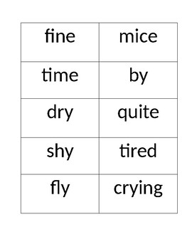SRA Imagine it! Unit 8 Lesson 6-10 Spelling Boxes
