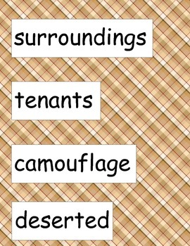 SRA ImagineIt! 2nd Grade Vocabulary Words Unit 4