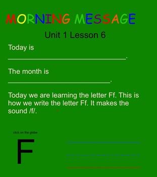 SRA Kindergarten Flip Charts UNIT 1 LESSON 6 THRU 10