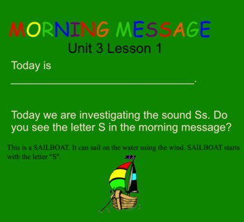 SRA Kindergarten Flip Charts UNIT 3 LESSON 1 THRU 5