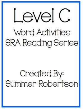 SRA Reading Series Word Activities Level C