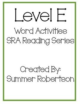 SRA Reading Series Word Activities Level E