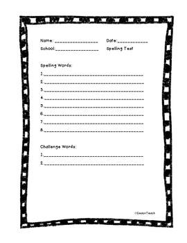 SRA Spelling Tests