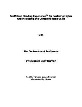SRE: The Declaration of Sentiments