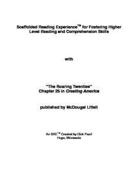 SRE: The Roaring Twenties (Chapter 25 in Creating America)