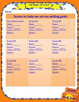 SRSD:  Goal Setting Record Form for TIDE(power) informatio