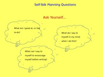 SRSD Self Talk Questions for students