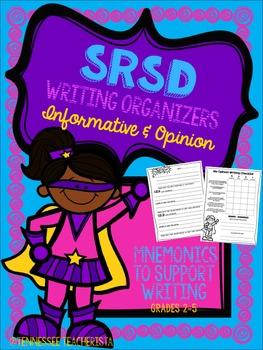 SRSD Writing Organizers & Writing Checklists {Informative & Opinion}
