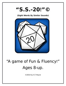"""S.S.-20!"" ""A Game of Fun & Fluency!"" (Sight Words by Similar Sound)"