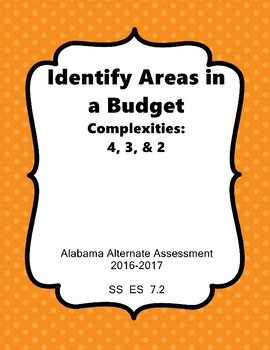 SS 7.2 Identify Items in Budget AAA Extended Standards