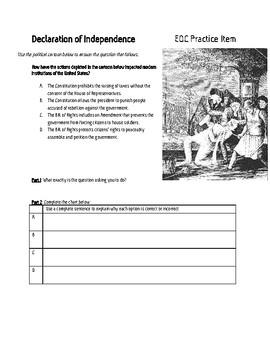 SS.7.C.1.4 EOC Practice Item Declaration of Independence