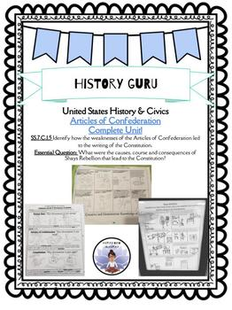 SS.7.C.1.5 Compressed Articles of Confederation Unit