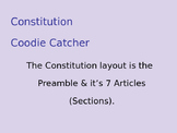 SS.7.C.1.6 Preamble and the Constitution Coodie Catcher/ Fortune Teller