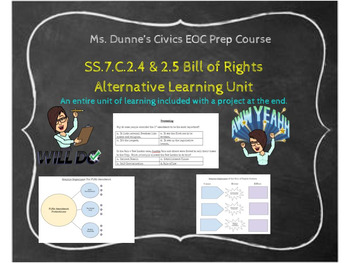 SS.7.C.2.4 & 2.5 Bill of Rights Alternative Learning Unit