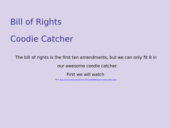 SS.7.C.2.4 Bill of Rights Amendments Coodie Catcher/ Fortu