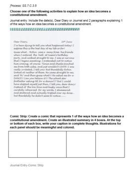 SS.7.C.3.5 Amendment Process ZIP