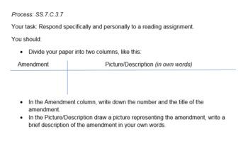 SS.7.C.3.7  Voting Rights Amendments Zipped file