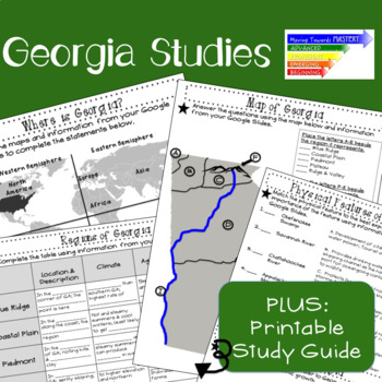 SS8G1 Geography & Climate of Georgia: Google Interactive