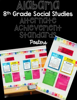 SS.AAS.8 FULL SET Standard Posters Alabama Alternate Achievement Standards