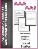 SS.AAS.9.13 and SS.AAS.9.14 Depression/World War II Alabama Alternate Assessment