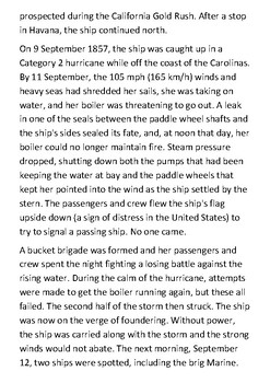 SS Central America Handout