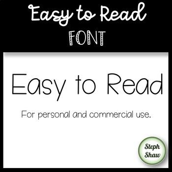 SS Easy To Read Font - Great for longer text in class!