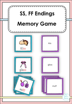 SS,FF  Endings Memory Game