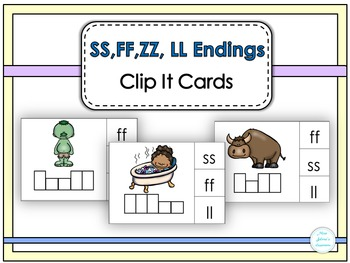 SS,FF, ZZ, LL  Endings Clip It Cards