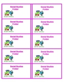 SS Folder labels for your class