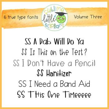 SS Fonts: Volume Three