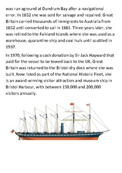 SS Great Britain Handout