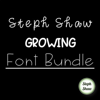 SS Growing Font Bundle - CUTE FONTS FOR PERSONAL AND COMMERCIAL USE!