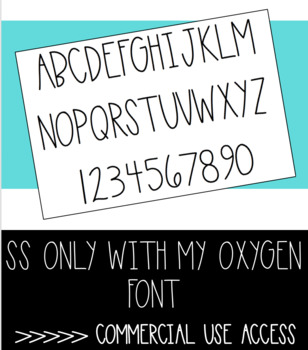 SS ONLY WITH MY OXYGEN Font - Commercial Access