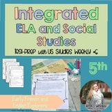 Integrated ELA FSA Practice with Social Studies;Early French & English Explorers